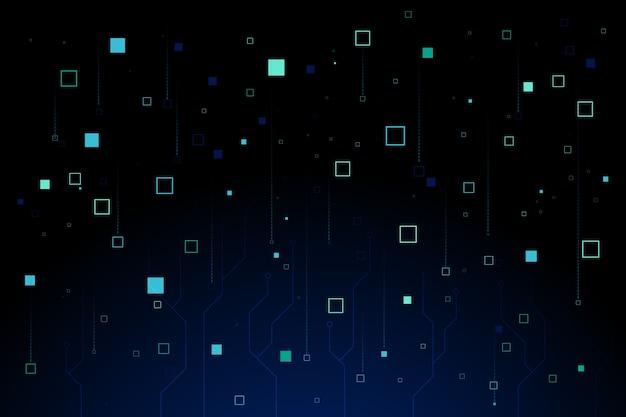 Fondo abstracto de lluvia de píxeles