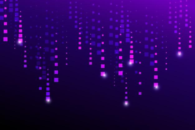 Fondo abstracto de lluvia púrpura de píxeles