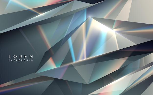 Fondo abstracto de luces de color cristal o cristal