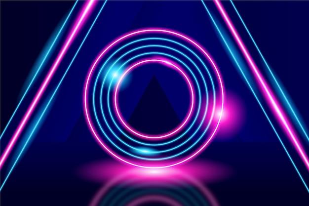 Fondo abstracto de luces de neón