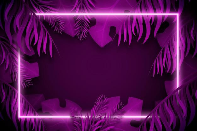 Fondo abstracto luces de neón