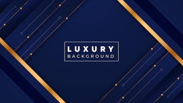 Fondo abstracto de lujo con detalles dorados