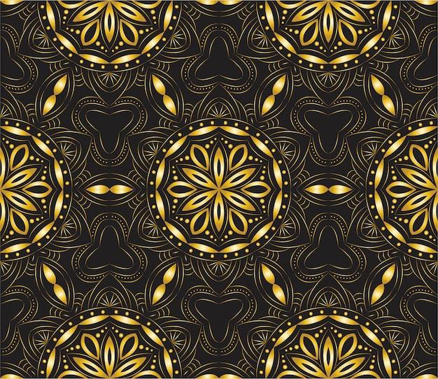 Fondo abstracto de lujo mandala ornamental