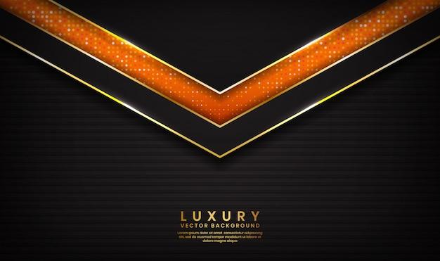 Fondo abstracto de lujo negro y naranja