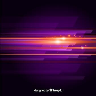 Fondo abstracto con luz en movimiento horizontal