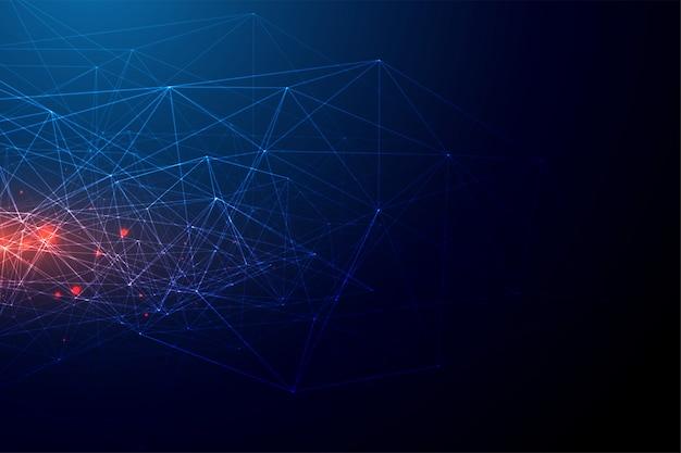 Fondo abstracto de la malla de alambre de la red de la tecnología
