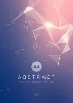 Fondo abstracto de malla con círculos, líneas y diseño de formas triangulares para su negocio.