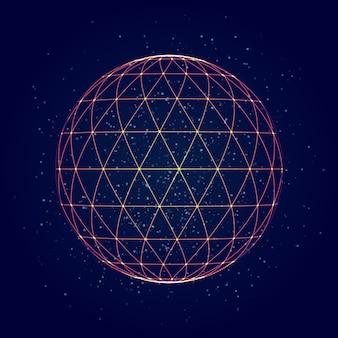 Fondo abstracto de la malla del triángulo de la esfera.