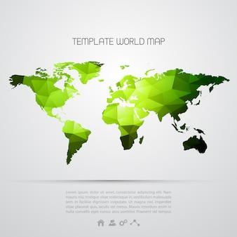 Fondo abstracto con mapa del mundo