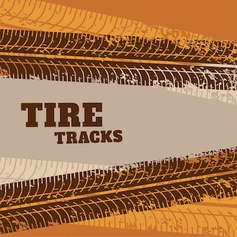 Fondo abstracto marcas de neumáticos