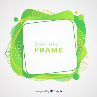 Fondo abstracto marco curvado