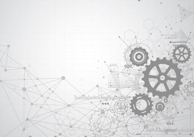 Fondo abstracto mecanismo de rueda de engranaje