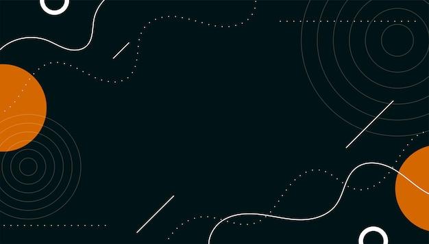 Fondo abstracto de memphis con formas de círculos y líneas