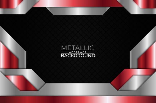 Fondo abstracto metálico estilo cuadrado rojo