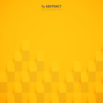 Fondo abstracto del modelo del diseño del corte del papel del color del amarillo de la mostaza.