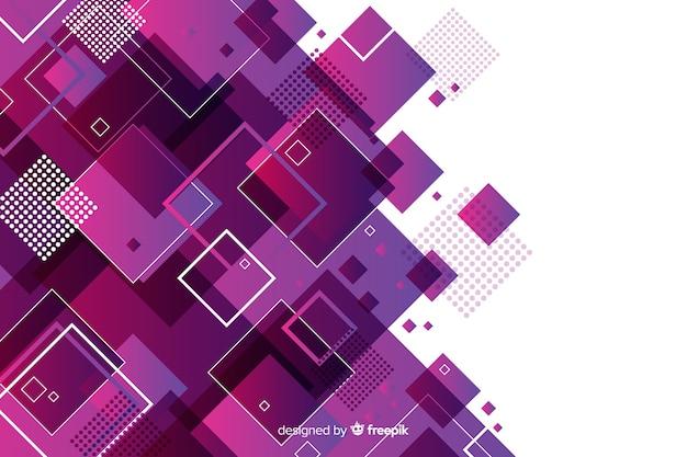 Fondo abstracto con modelos geométricos
