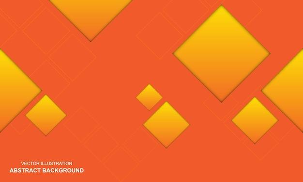 Fondo abstracto moderno color naranja y amarillo