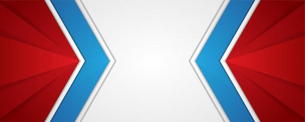 Fondo abstracto moderno, colores azules en las flechas grandes. plantilla geométrica