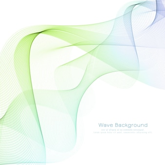 Fondo abstracto moderno colorido de la onda