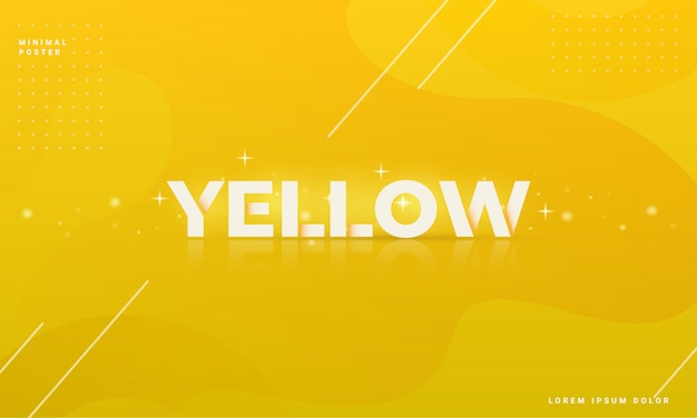 Fondo abstracto moderno con un concepto amarillo