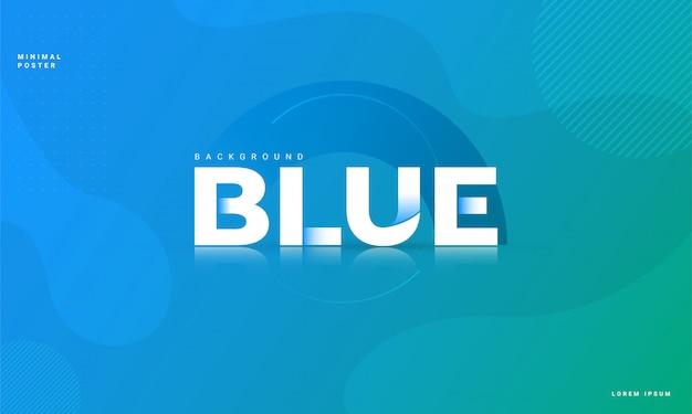 Fondo abstracto moderno con concepto de color azul