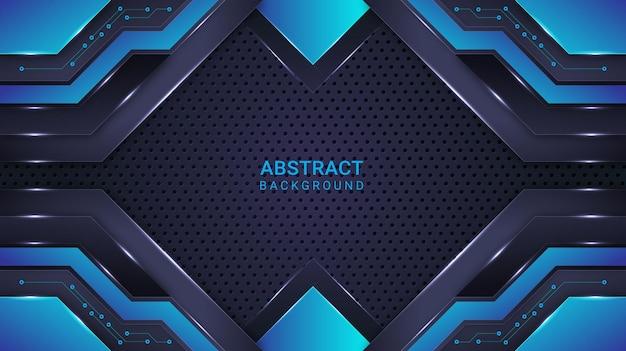 Fondo abstracto moderno degradado cian y azul