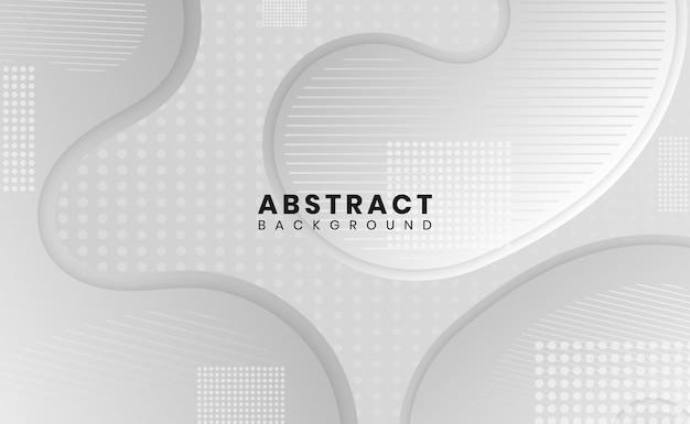 Fondo abstracto moderno diseño de forma de curva de color degradado de patrón punteado blanco y gris