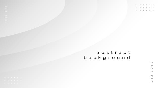 Fondo abstracto moderno con elementos degradados blancos vector gratuito