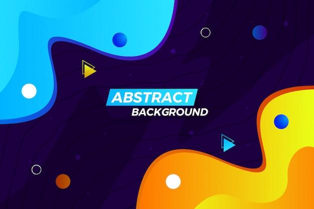Fondo abstracto moderno con estilo de la onda con formas y líneas