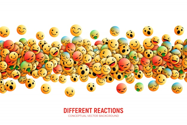 Fondo abstracto moderno de facebook emoji