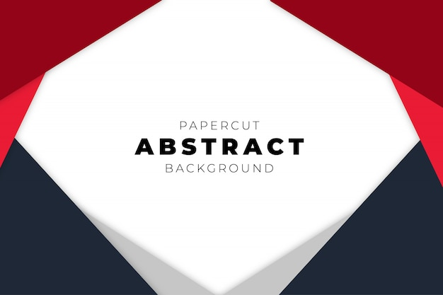 Fondo abstracto moderno con formas de corte de papel
