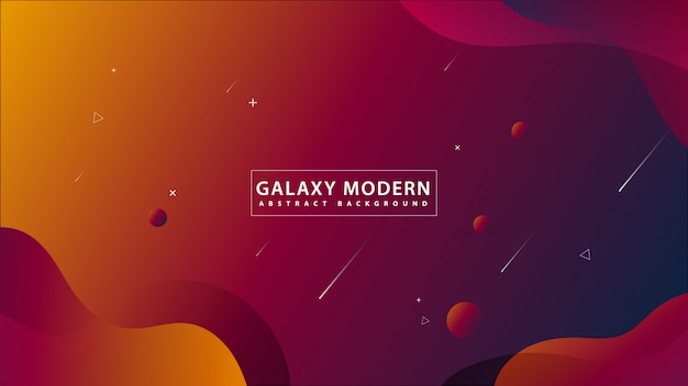 Fondo abstracto moderno de la galaxia