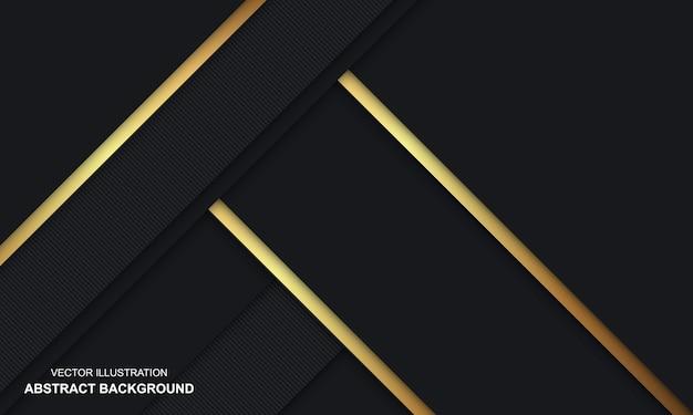Fondo abstracto moderno lujo negro y dorado