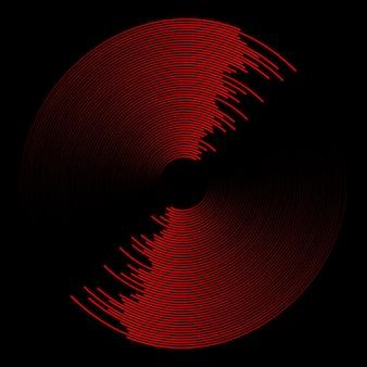 Fondo abstracto moderno con onda de sonido