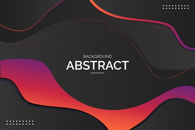Fondo abstracto moderno con las ondas coloridas