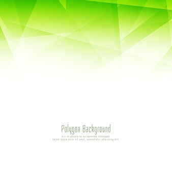 Fondo abstracto moderno polígono verde