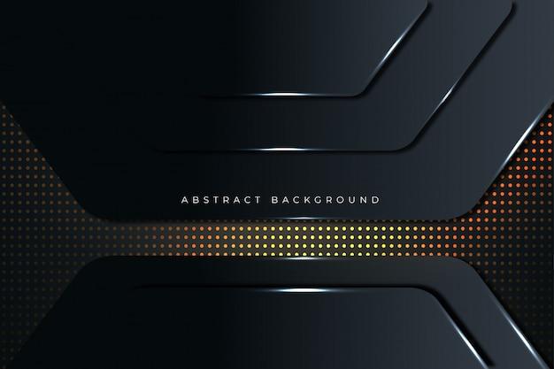 Fondo abstracto moderno realista techno negro