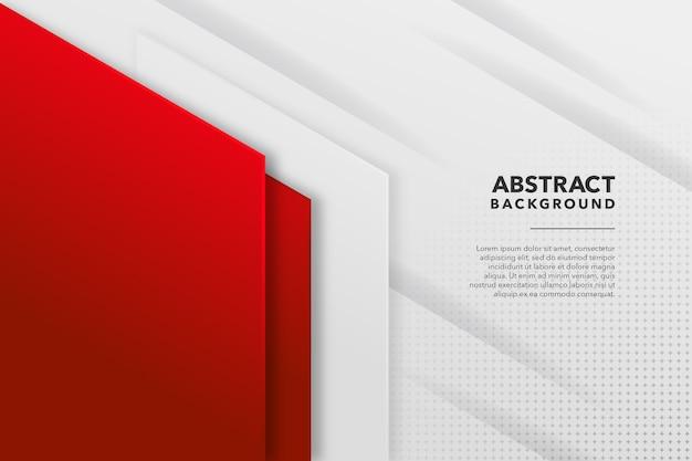 Fondo abstracto moderno rojo y blanco