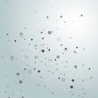 Fondo abstracto de la molécula de conexión.