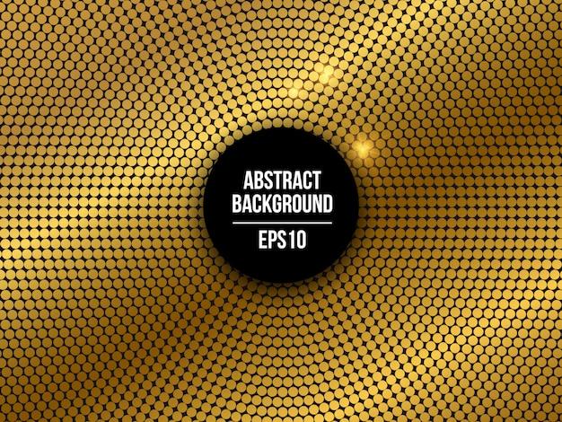 Fondo abstracto de mosaico punteado dorado de fiesta