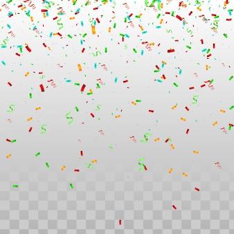 Fondo abstracto con muchas piezas pequeñas de confeti que caen