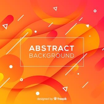 Fondo abstracto naranja con formas onduladas