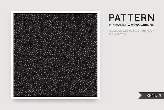 Fondo abstracto negro con figuras monocromáticas blancas al azar sin costura
