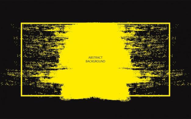 Fondo abstracto negro con grunge amarillo