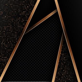 Fondo abstracto negro y oro