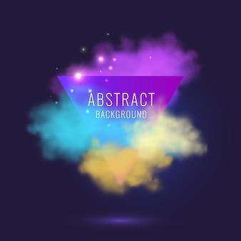 Fondo abstracto con nubes de colores
