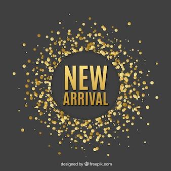 Fondo abstracto de nueva llegada en estilo de confeti dorado