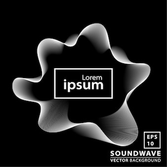 Fondo abstracto de la onda acústica