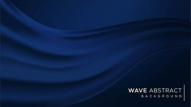 Fondo abstracto de onda azul clásico