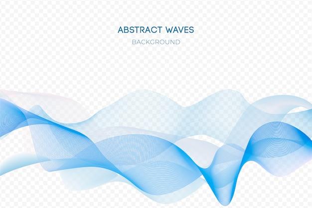 Fondo abstracto de la onda azul